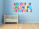 Childrens Alphabet/Letters Wall Art Design - Multicoloured or Single Coloured