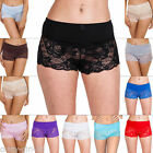 New Womens French Lace Knickers Underwear Boy shorts Boxers Hot pants Plus Size