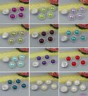 30 Pcs Charming Rhinestone Pearl Silver Tone Shank Round Button Sewing Craft