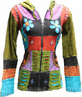 Pixie Hooded Flower Embroidery Hippy Style Jacket,Slashed Layer,Boho Hippie,Cool