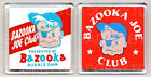 BAZOOKA JOE CLUB - FRIDGE MAGNETS -  RETRO COOL!