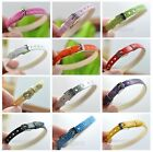 20pcs PU leather Bracelet Wristband Fit 8MM Slide Charm Beads Jewelry Findings