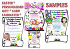 EASTER Personalised * Daughter Son Nanny & Grandad Godmother Godfather Card Gift