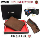 Designer J Wilson Real Genuine Mens Quality Leather Wallet Zip Card Id Gift Box