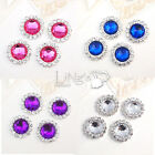 A Grade Rhinestones Round Acrylic Crystal Diamante Beads Cluster DIY Craft Decor
