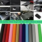 Air Release PVC Carbon Fibre Color DIY Car Vinyl Film Wrap Roll Sheet Sticker