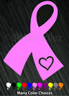 Breast Cancer Ribbon Vinyl Car Decal Sticker Leukemia Soldier Heart Awareness