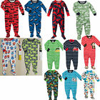 NWT $22 Carter's Boys Footed Pajamas Jersey & Cotton 12 18 24 Months 2T 3T 4T 5T