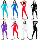 Long Sleeved Lycra Dance Catsuit  Childs, Adults Shiny Nylon Catsuit - Dancewear