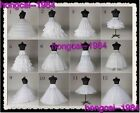 New 12 Styles White Bridal Crinoline Wedding Dress Petticoat Underskirt Optional