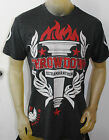 NWT THROWDOWN by AFFLICTION mens s/s ULTRAMARATHON t-shirt T0963 black S-XL
