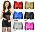 Metallic Pole Dance Fitness Clubbing Shorts TOP QUALITY UK Made Lycra Hot Pants