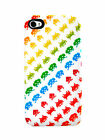 Case Scenario Space Invaders iPhone 4/4S Fitted Phone Case - White/Color - NEW!