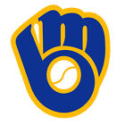 MLB MILWAUKEE BREWERS LOGO #1  IRON ON TRANSFER  FOR LIGHT OR DARK FABRIC