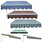 Garden Patio Manual Aluminium Retractable Awning Canopy Sun Shade Shelter New