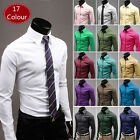 Hot Sale!!! 17 Colour  C6124 New Mens Luxury Fashion Casual Slim Fit  Shirts