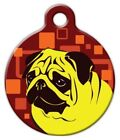 MELLOW YELLOW PUG - Custom Personalized Pet ID Tag for Dog and Cat Collars