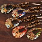 New Fashion Drop Beads Murano Art Foil Lampwork Glass Pendant Cord Necklace Gift