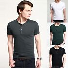 Men's Slim Fit Short Sleeve Causal T-Shirt 4 Size XS~L new simple fashion hot