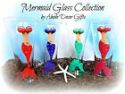 Mermaid Glass Tropical Beach Nautical Unique Classy Gift Summer Island Mythical