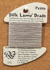 2 Cards Rainbow Gallery Petite Silk Lame Braid Thread Fiber Needlepoint Canvas