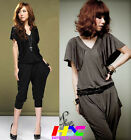 Summer Vogue Personalized V neck backless design elastic haroun jumpsuit pants