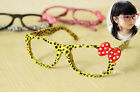 Children Kids Grils Dress Rave Club Party Leopard Sun Glasses frame No Lenses
