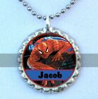 Spiderman Personalized Flattened Bottlecap Necklace or Keychain