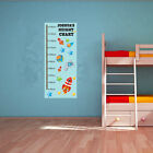 CHILDREN'S PERSONALISED HEIGHT CHART - Space / Rockets Themed - Wall Art Sticker