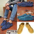Fashion Mens Fashion Sneakers Leather Casual Lace up Flats Slip-on Loafer Shoes