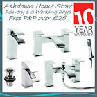 Chrome Modern Waterfall Bathroom Mono Basin Bath Filler Shower Mixer Taps PEAK