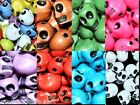 25pcs acrylic gothic skull beads 12x9mm in 12 diiferent colours