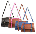 New Womens Shoulder Across Body Bag Ladies Leather Look Handbag Satchel Designer