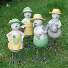 Large Gardening Resin Bird Garden Ornament In Bright Pastel Finish Four Designs