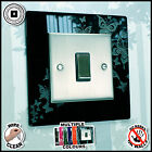 Butterfly Light Switch Surround Multiple Colour Plastic Finger Plate Panel Cover