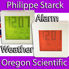 PHILIPPE STARCK WEATHER STATION ALARM CLOCK PROJECTION RADIO OREGON SCIENTIFIC