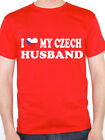 I LOVE MY CZECH HUSBAND - Czech Republic / Europe / Fun Themed Mens T-Shirt