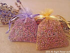 Dried Heather Grains in Flower Bags - wedding or table confetti, crafts, gifts