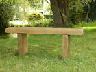 Solid Wood Garden Bench - Chunky Rustic Pine - Farmhouse Wooden Dining Seat