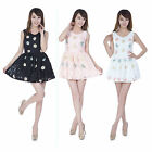 New Womens Lace Daisy Sleeveless Embroidery Princess Cocktail Party Mini Dress