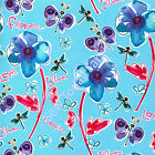 Field of Poppies Berry - Free Spirit - PWKD062-BERRY (sold by the 1 2 yard)