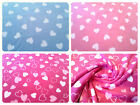 "Antipil Polar Fleece Fabric - Heart Pattern -59"" (150cm) wide - per metre/half"