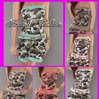 NEW belt + CAMO JUMPSUIT sz 6 8 10 hot MILITARY wear STRAPLESS army OVERALL S M