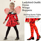 Girls Ladybird Bug Costume Outfit  Fancy Dress Dance Ballet Shows 4-12 Years