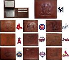 CHOOSE TEAM Wallet Bifold Highest Quality New All Leather MLB Billfold Marbled