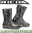 RICHA NOMAD TOURING WATERPROOF BOOTS MOTORCYCLE MOTORBIKE ALL SIZES NEW BLACK