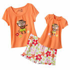 "Girl 2T 3T 4T  and 18"" doll matching Pajama set for Dollie Me & American Girl"