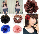 Women Flower Hair Clips Bobby Brooch Pin Fascinator Corsage Wedding Party
