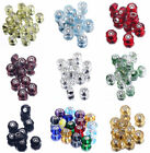 10pcs Faceted Crystal Glass Spacer Beads European Charms For Bracelet Craft DIY