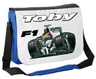 LARGE PERSONALISED SCHOOL / COLLEGE MESSENGER BAG ANY NAME PRINTED - F1 BCKGRND